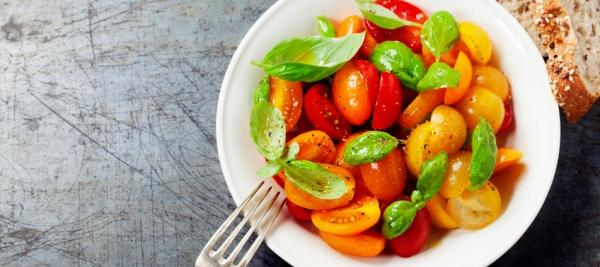 Sautéed Cherry Tomatoes with Garlic and Fresh Basil