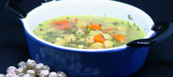 Lemon and Spinach Chickpea Soup