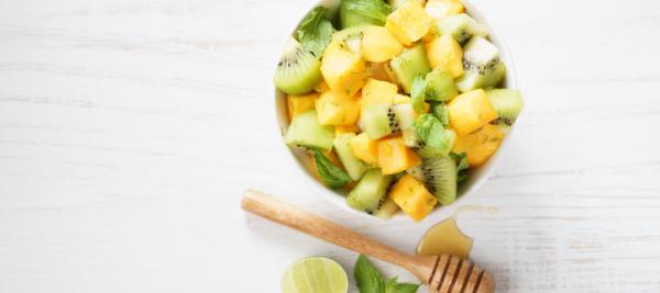 Tropical Fruit Salad with Lemon Maple Glaze