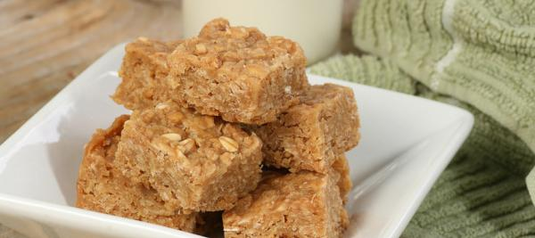 Toasted Almond and Coconut Oat Squares
