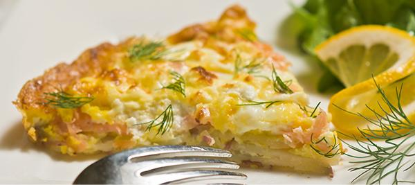 Smoked Salmon and Dill Frittata