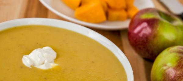Butternut Squash and Apple Soup