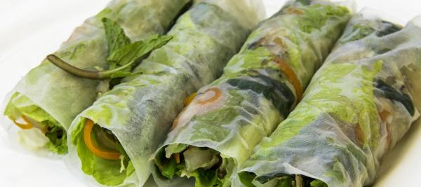 Tempeh Vegetable Summer Rolls