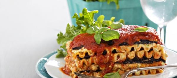 Turkey Lasagna with Spinach, Eggplant and Zucchini