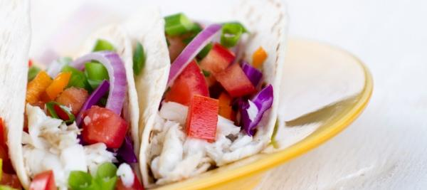 Easy Fish Tacos with Tomato and Avocado Salsa
