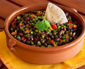 Spicy Black Bean and Pepper Salad with Citrus Dressing