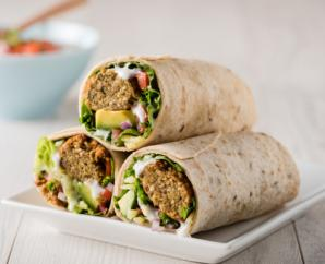 Falafel Wrap with Lemon Tahini Sauce