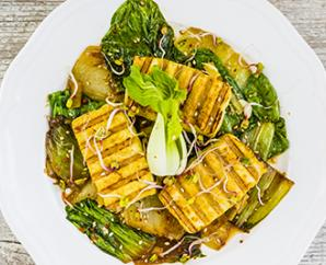 Grilled Tofu with Sautéed Greens