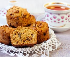 Pumpkin Spice Muffins with Carrots & Blueberries