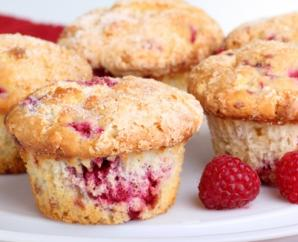 Raspberry Ginger Muffins